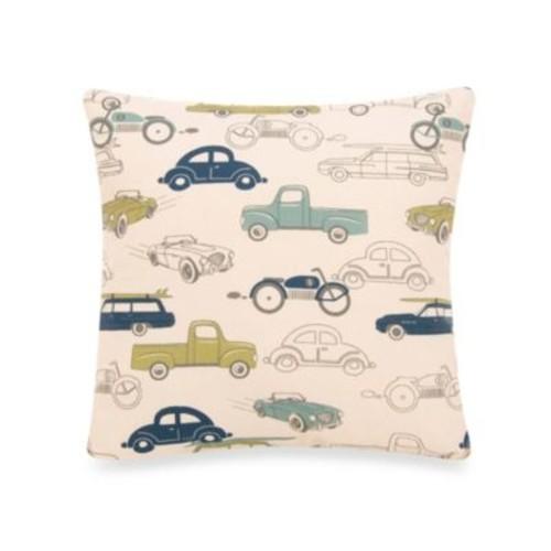 Glenna Jean Uptown Traffic Square Cars Pillow