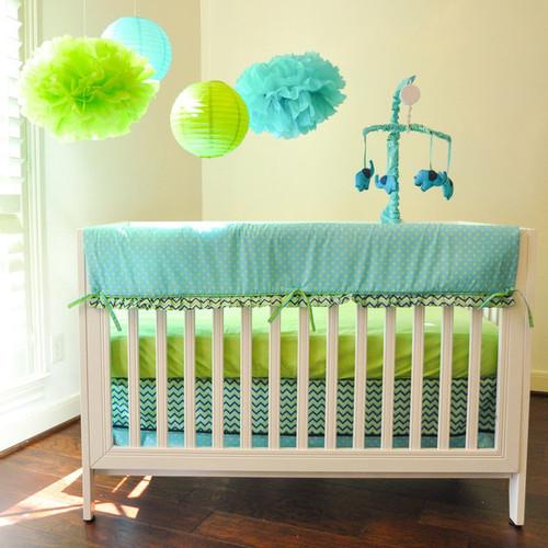 Pam Grace Creations ZigZag Elephant 10-piece Crib Bedding Set