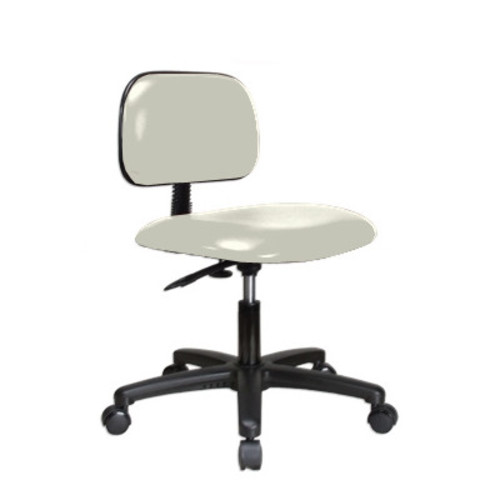 Perch Chairs & Stools Low-Back Desk Chair [Upholstery : Adobe White Vinyl]