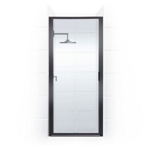 Coastal Shower Doors Paragon Series 29 in. x 82 in. Framed Continuous Hinged Shower Door in Oil Rubbed Bronze with Clear Glass