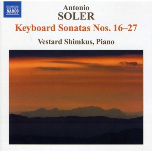 Antonio Soler: Keyboard Sonatas Nos. 16-27 [CD]
