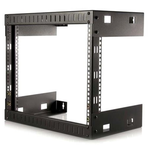 StarTech.com RK812WALLO 8U Open Frame Wall Mount Equipment Rack - 12