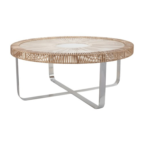 Natural Split Rattan Coffee Table design by Lazy Susan
