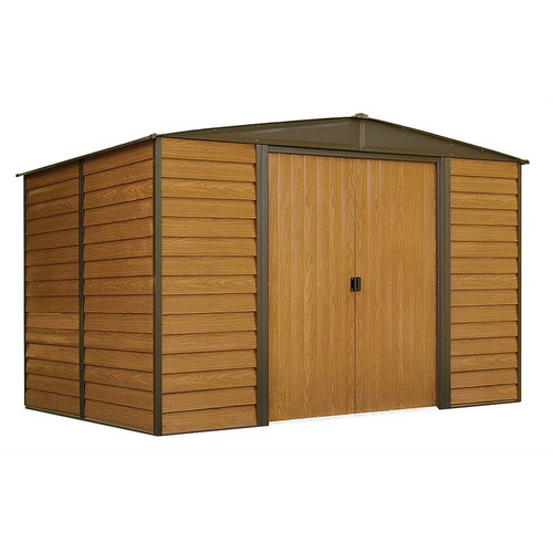 Arrow Sheds Low Gable Storage Shed in Brown and Coffee Finish