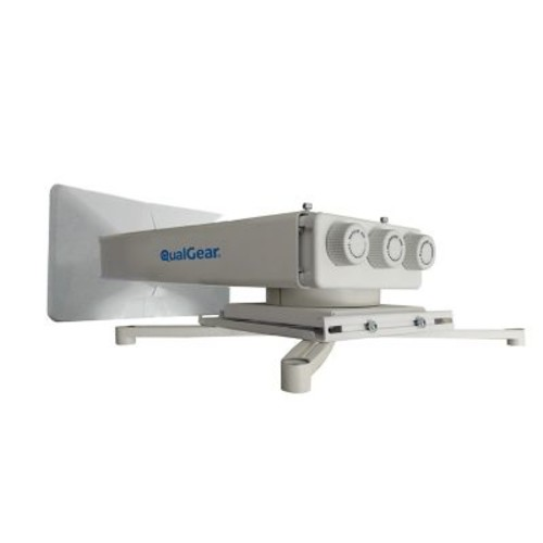 Qualgear Universal Projector Wall Mount With Fine Tune Adjustments, White (Qg-Pm-Ft1-Wht)