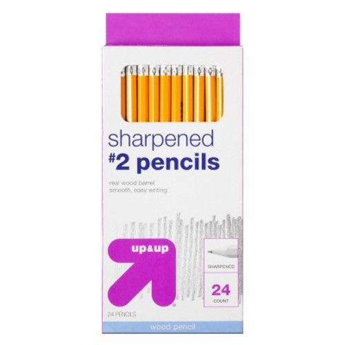 Sharpened #2 Wood Pencils 24ct - up & up