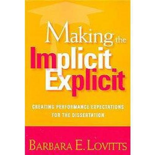 Making the Implicit Explicit (Paperback)