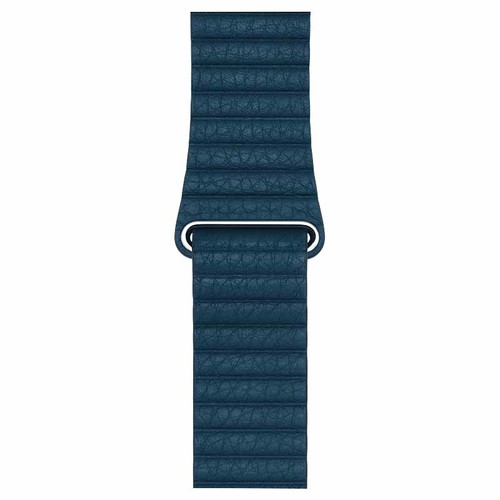 Apple Leather Loop Band for 42mm Watch - Large - Cosmos Blue