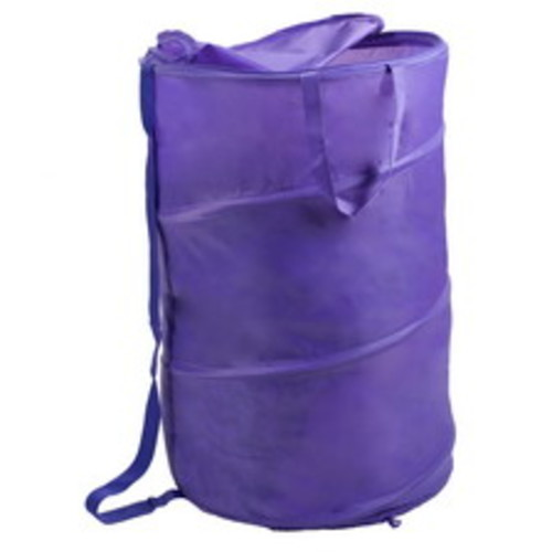 Lavish Home Breathable Pop-Up Laundry Clothes Hamper, Purple