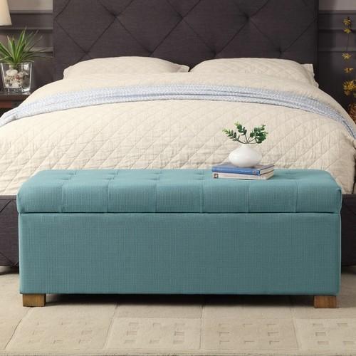 HomePop Large Tufted Storage Bench