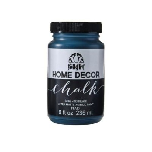 FolkArt Home Decor 8 oz. Rich Black Ultra-Matte Chalk Finish Paint