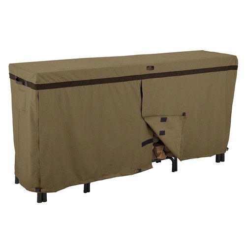 Classic Accessories Hickory Heavy Duty Log Rack Cover - Durable and Water Resistant Patio Cover, 8-Feet (55-203-012401-EC)