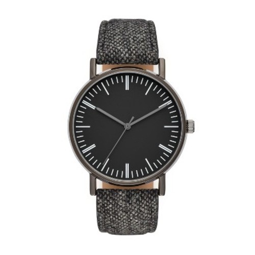 Men's Classic Strap Watch - Merona Black
