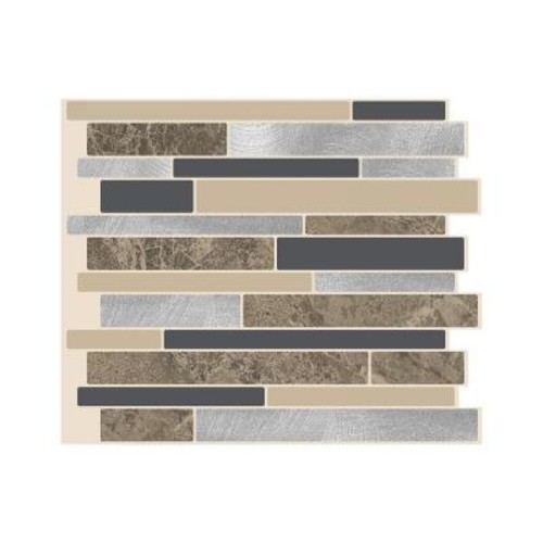 Smart Tiles Milano Sasso 11.55 in. W x 9.65 in. H Peel and Stick Decorative Mosaic Wall Tile Backsplash