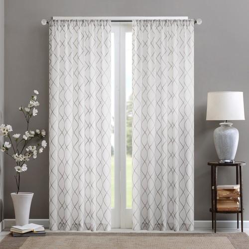 Madison Park Iris Diamond Sheer Window Curtain