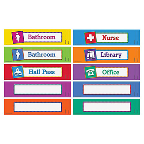 Learning Resources Hall Passes Board - 10 / Set