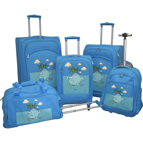 Ed Heck Lightweight 5-PC Spinner Luggage Set
