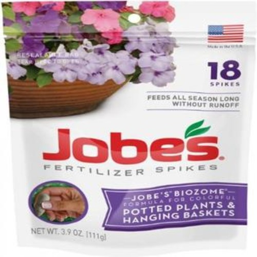 Oregon Jobe's Potted Plant/Hanging Basket Outdoor Fertilizer Food Spikes - 18 Pack 6105