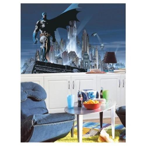 RoomMates Batman Chair Rail Prepasted Mural 6' x 10.5' - Ultra-strippable