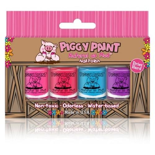 Piggy Paint - 100% Non-toxic Girls Nail Polish, Safe, Chemical Free, Low Odor for Kids - 4 Polish Gift Set - 4 Bottle Gift Box [4 Bottle Gift Box]