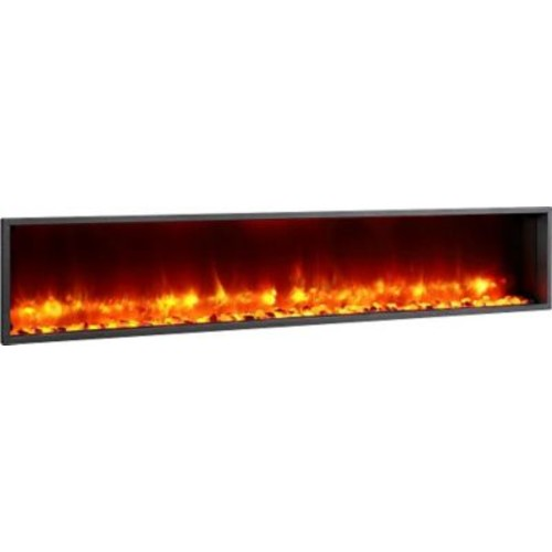 Dynasty 79'' Built-in LED Wall Mount Electric Fireplace