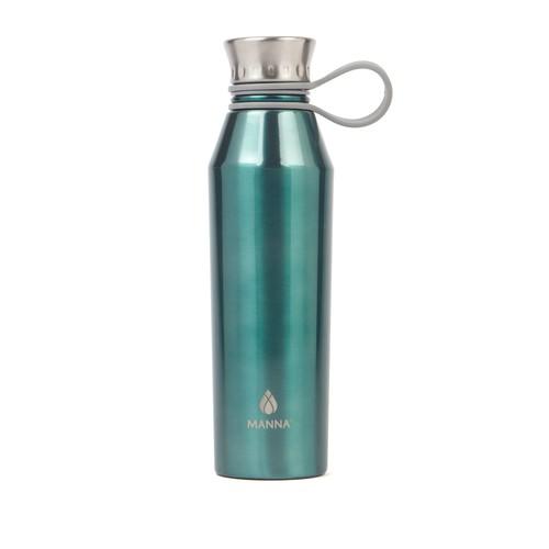 Silver Haute Metallic Stainless Steel Water Bottle