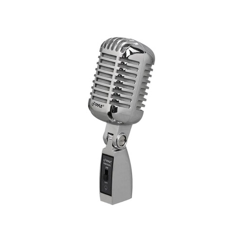 PYLE - Classic Retro Vintage Style Unidirectional Dynamic vocal Microphone