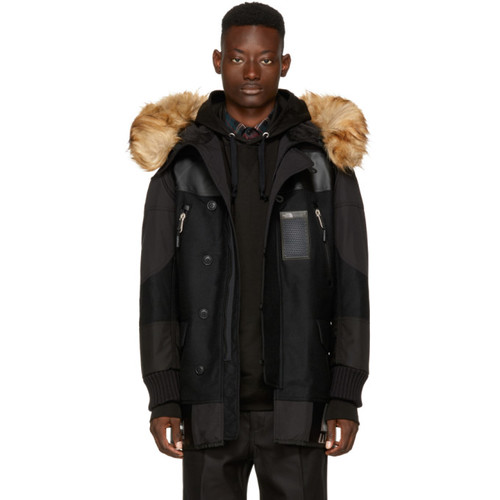 JUNYA WATANABE Black The North Face Edition Faux-Fur Duffle Bag Coat