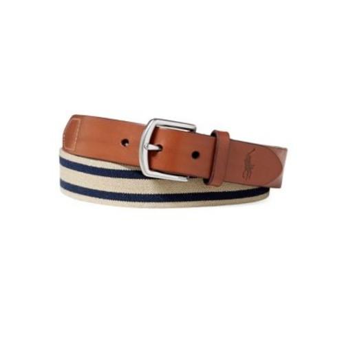 Stripe Overlay Webbed Belt
