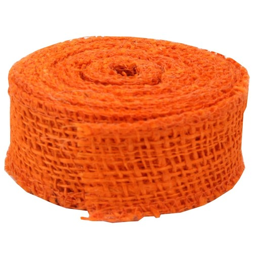 JAM Paper Burlap Ribbon, 1.5 inch wide x 10 Yards, Orange, Sold Individually (344226955)