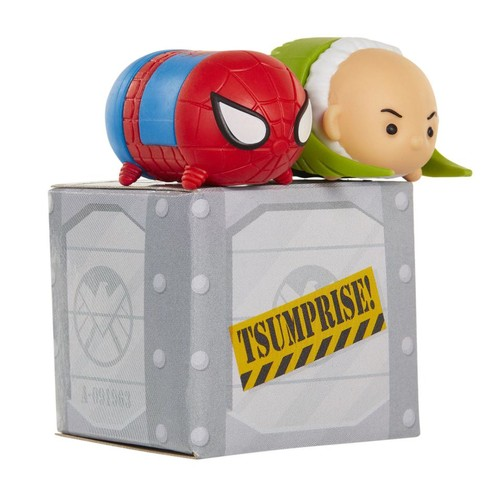 Marvel Tsum Tsum Series 4 3 Pack Minifigures - 1 Surprise Figure, Vulture and Spider-Man
