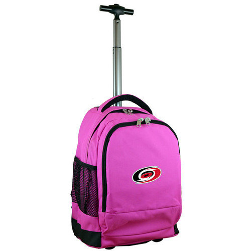 Denco Sports Mojo Carolina Hurricanes Premium Pink Wheeled Backpack