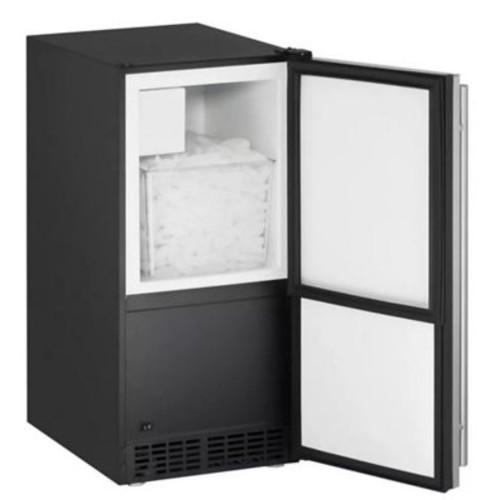 U-Line Reversible 15'' W 60 lb Built-in Ice Maker; Black