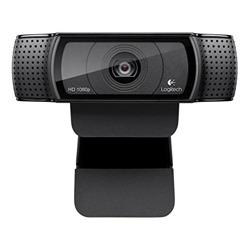 Logitech HD Pro Webcam C920, Widescreen Video Calling and Recording, 1080p Camera, Desktop or Laptop Webcam [C920 Webcam]