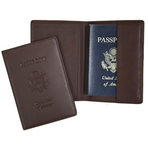 Royce Leather Genuine Leather RFID-Blocking Passport Travel Document Organizer