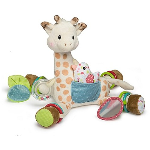 Mary Meyer Sophie la girafe Activity Plush Toy in White/Brown