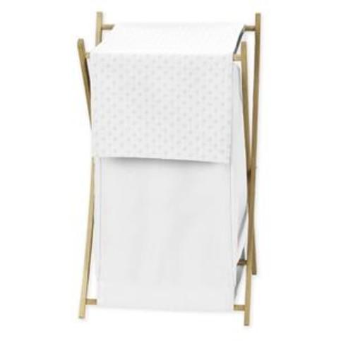 Sweet Jojo Designs White Minky Dot Collection Fabric 26.5-inch x 15.5-inch x 16-inch Laundry Hamper