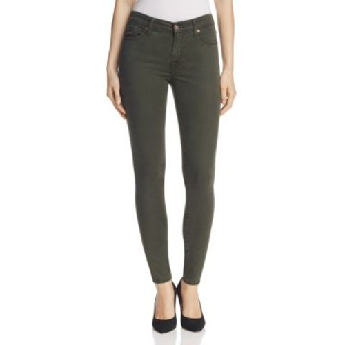 7 FOR ALL MANKIND B(Air) Skinny Ankle Jeans In Bottle Green