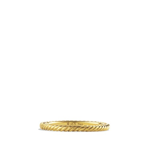 Cable Classics Band Ring in 18K G