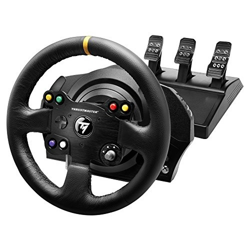 Thrustmaster VG TX Racing Wheel Leather Edition Premium Official Xbox One Racing Wheel for Xbox One and PC [TX Leather]