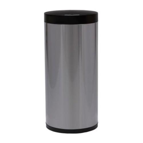 EKO Stainless Steel 13 Gallon Round Sensor Trash Can in Silver