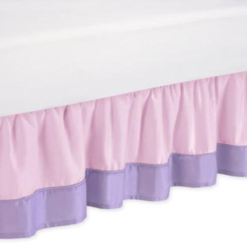 Sweet Jojo Designs Butterfly Queen Bed Skirt in Pink/Purple
