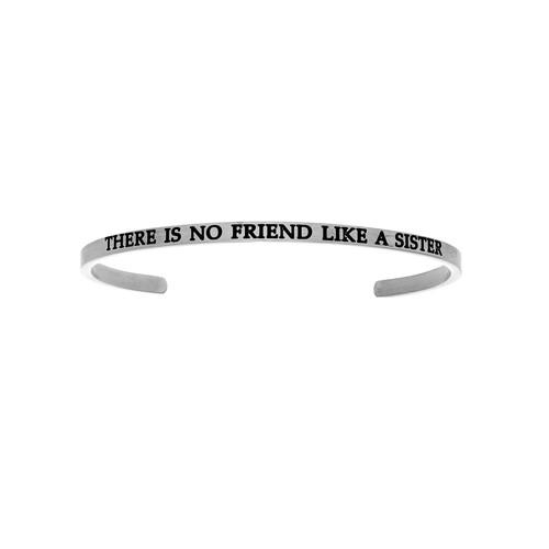 THERE IS NO FRIEND LIKE A SISTER Diamond Cuff Bangle