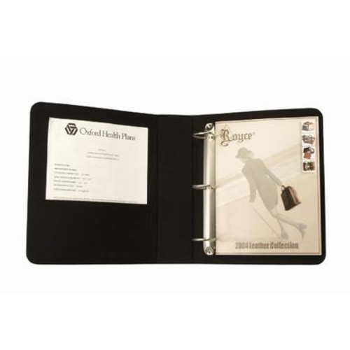 Personalized Royce Leather 2-Inch D-Ring Binder