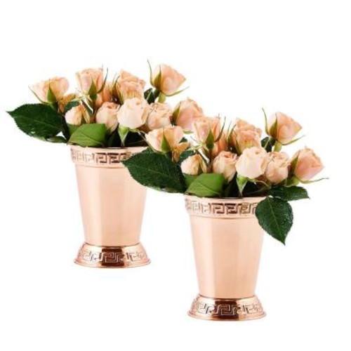 Dutch 12 oz. Mint Julep Cup in Solid Copper (Set of 2)