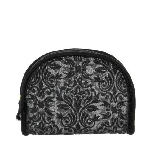 Conair Black Glitter Baroque Cosmetic Bag