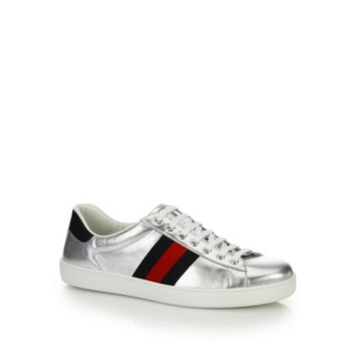 GUCCI Ace Low-Top Leather Sneakers