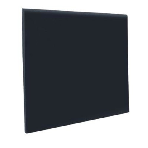 ROPPE No Toe Black 4 in. x 120 ft. x 1/8 in. Vinyl Wall Cove Base Coil