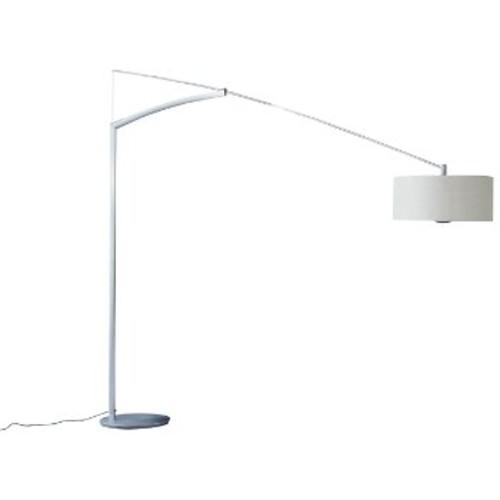Balance Floor Lamp [Finish : Satin Nickel with Off-White Silk]