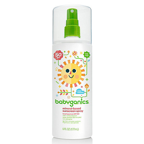 Babyganics 6 oz. 50+SPF Mineral-Based Sunscreen Spray